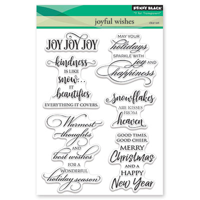 Penny Black, Joyful Wishes, Clear Stamp