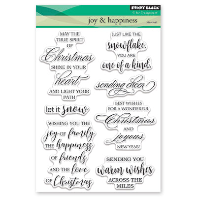 Penny Black, Clear Stamp, Joy & Happiness