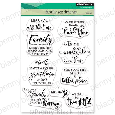 "Penny Black Clear Stamps, Family Sentiment 5""X6.5"""