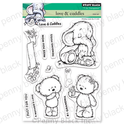 Penny Black Clear Stamps, Love And Cuddle 5 x 6.5""