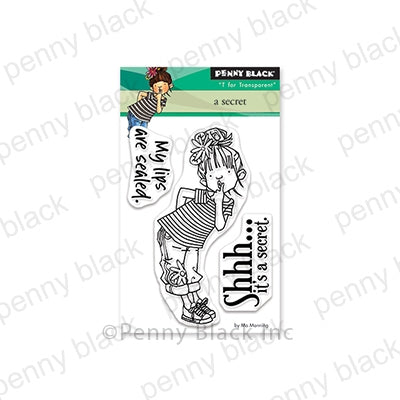 "Penny Black Clear Stamps, A Secret 3""x4"""