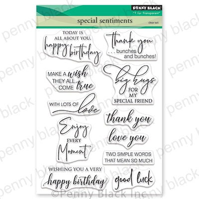 Penny Black Clear Stamps, Special Sentiments, 5 x 6.5""