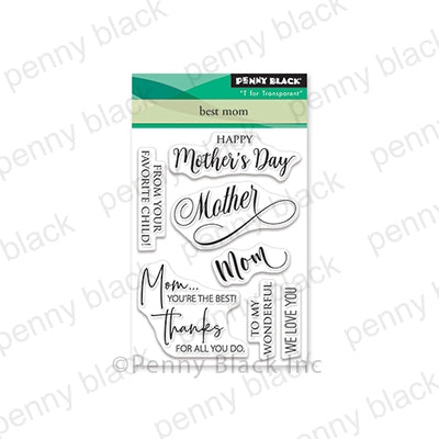 "Penny Black Clear Stamps, Best Mom, 3""x4"""