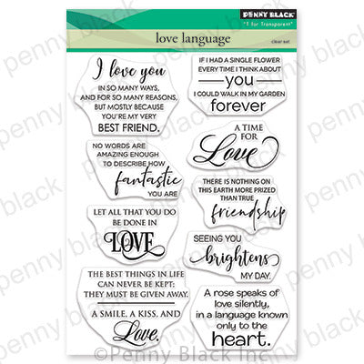 "Penny Black Clear Stamps, Love Language 5""X6.5"""
