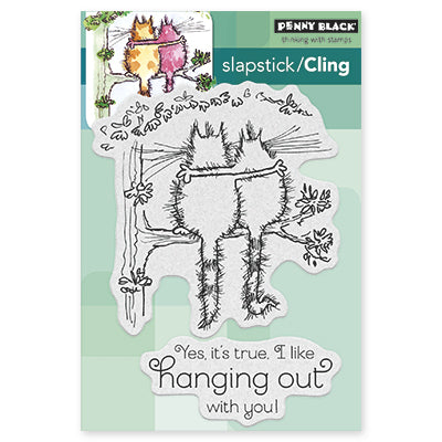 "Penny Black Cling Stamps 5""X7"", Hanging Out!"