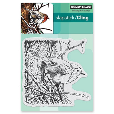 "Penny Black Cling Stamps 5""X7"", Feathers & Twigs"