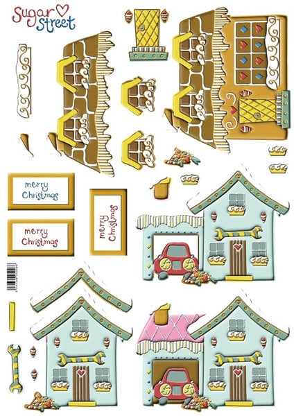 Sugar Street Blue Garage Decoupage - Scrapbooking Fairies