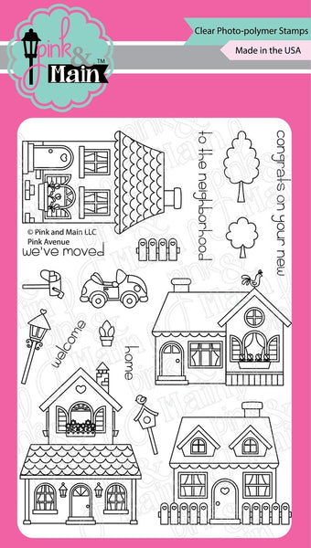 Pink & Main, Clear Photopolymer Stamps, Pink Avenue