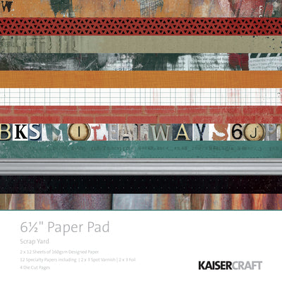 "Kaisercraft Paper Pad 6.5""X6.5"" 40/Pkg, Scrap Yard - Scrapbooking Fairies"