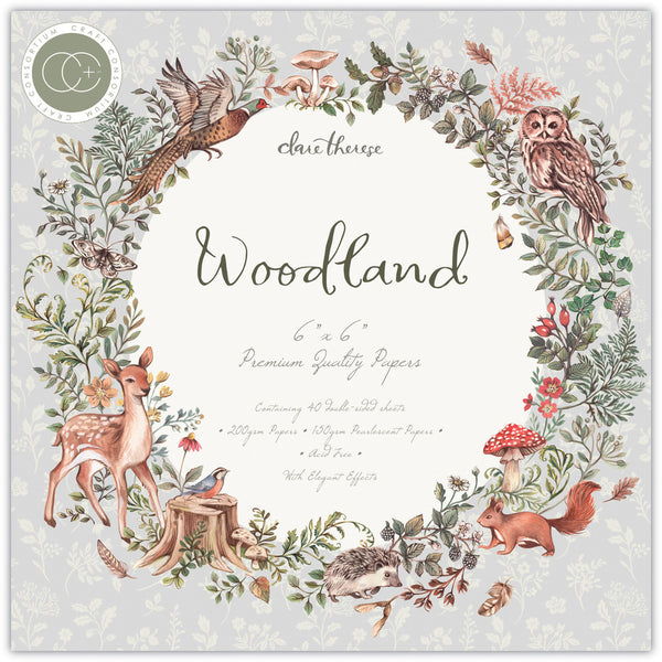 "Craft Consortium Double-Sided Paper Pad 6""X6"" 40/Pkg, Woodland"