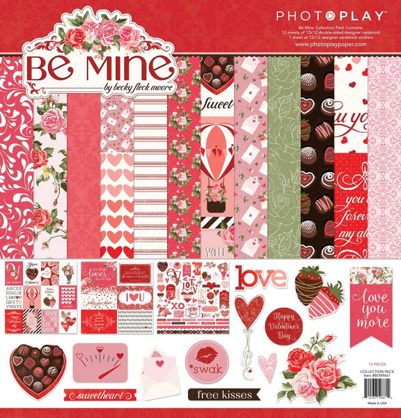 "PhotoPlay Collection Pack 12""X12"", Be Mine"