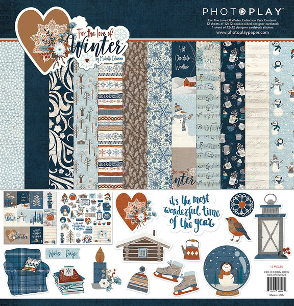 "PhotoPlay Collection Pack 12""X12"", For The Love Of Winter"