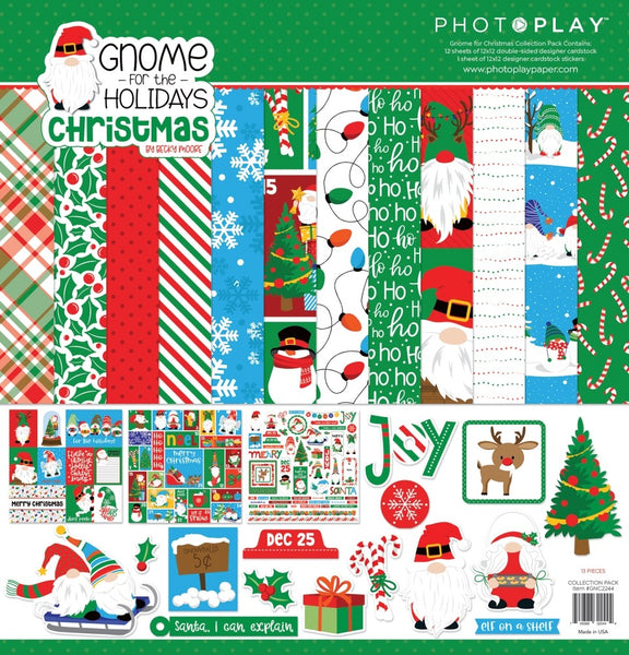"PhotoPlay Collection Pack 12""X12"", Gnome for the Holidays: Christmas"