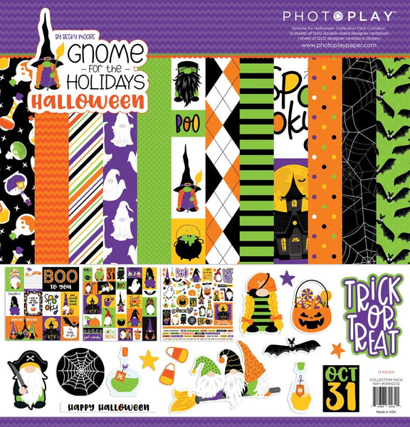 "PhotoPlay Collection Pack 12""X12"", Gnome For Halloween"