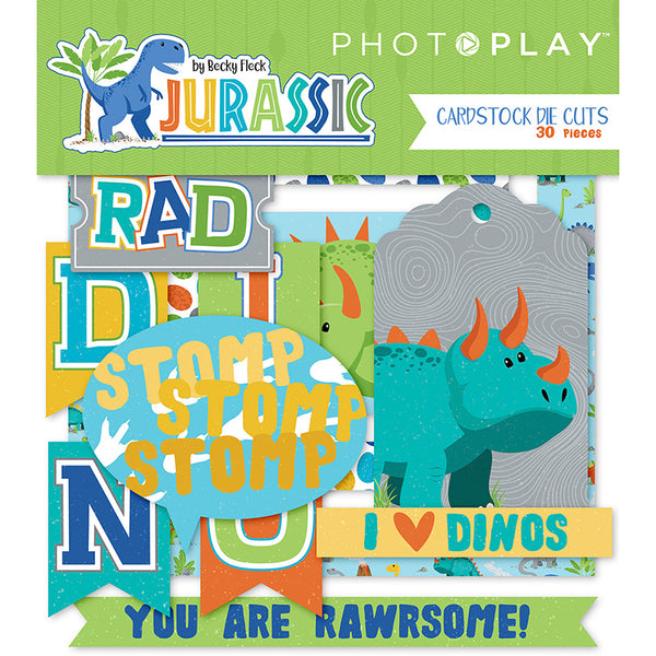 Photo Play, Jurassic Ephemera Cardstock Die-Cuts 30/Pkg