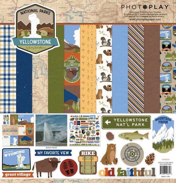 "PhotoPlay Collection Pack 12""X12"", National Parks Yellowstone"
