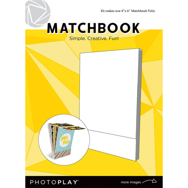 "PhotoPlay Matchbook 4""X6"", White, 6 Pages"