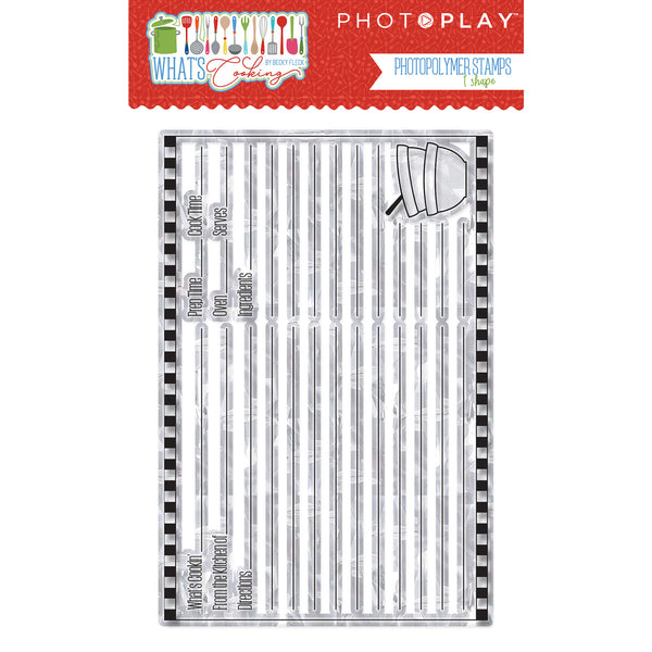 PhotoPlay Photopolymer Stamp, What's Cooking