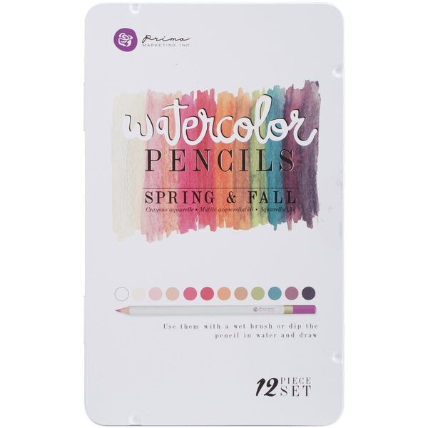 Prima Watercolor Pencils  - Spring & Fall - Scrapbooking Fairies