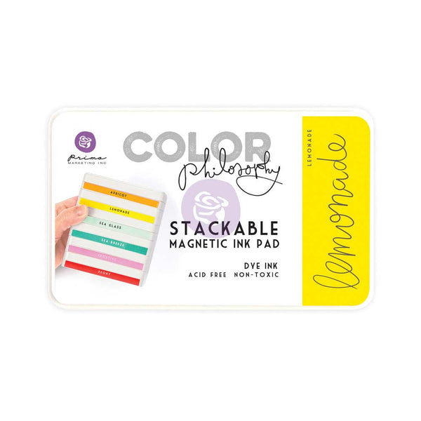 Prima, Magnetic and Stackable Ink Pad, Lemonade