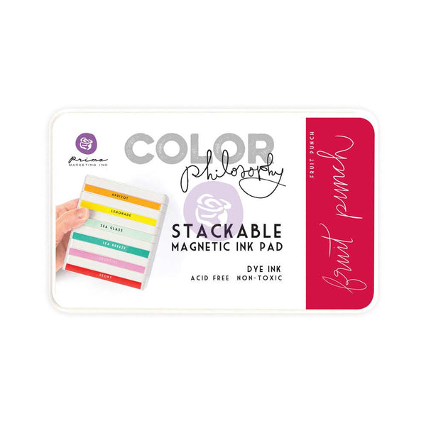 Prima, Magnetic and Stackable Ink Pad, Fruit Punch