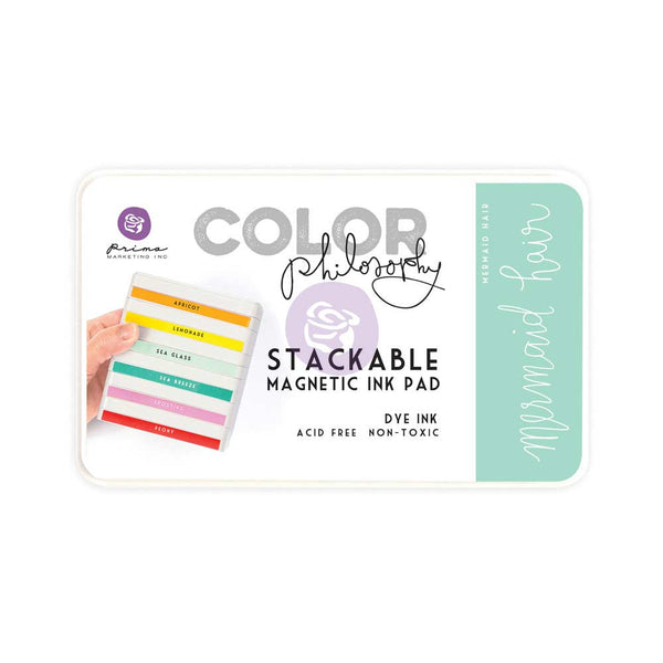 Prima, Magnetic and Stackable Ink Pad, Mermaid Hair