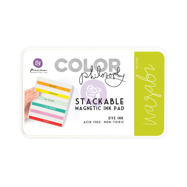 Prima, Magnetic and Stackable Ink Pad, Wasabi