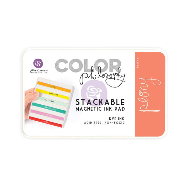 Prima, Magnetic and Stackable Ink Pad, Peony