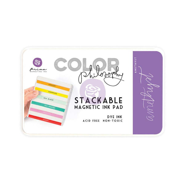 Prima, Magnetic and Stackable Ink Pad, Amethyst
