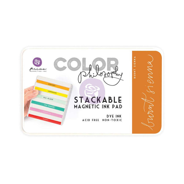 Prima, Magnetic and Stackable Ink Pad, Burnt Sienna