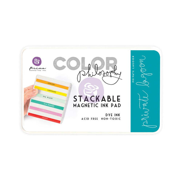 Prima, Magnetic and Stackable Ink Pad, Private Lagoon