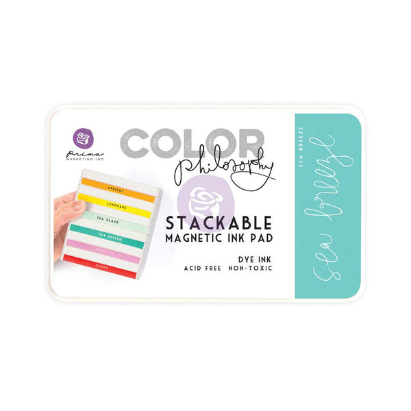 Prima, Magnetic and Stackable Ink Pad, Sea Breeze