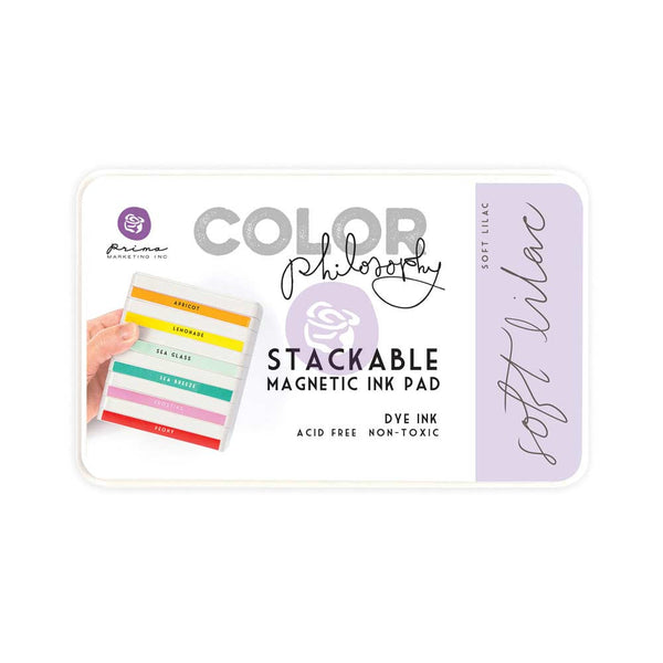 Prima, Magnetic and Stackable Ink Pad, Soft Lilac