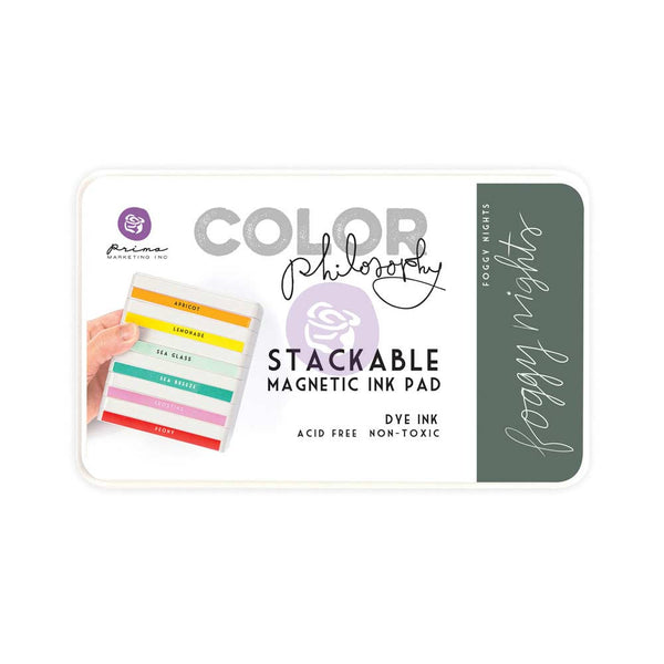 Prima, Magnetic and Stackable Ink Pad, Foggy Nights