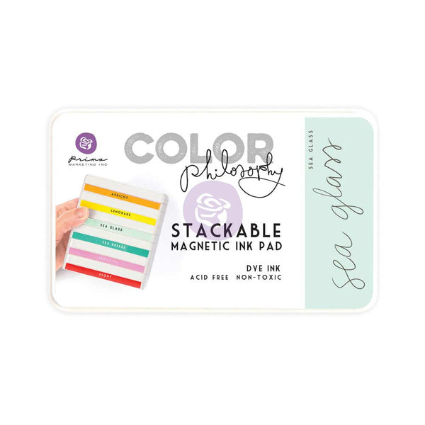 Prima, Magnetic and Stackable Ink Pad, Sea Glass