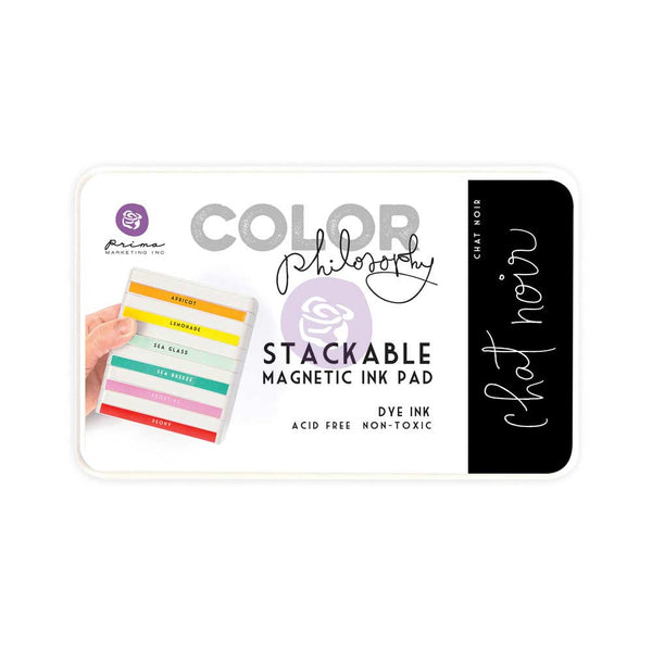 Prima, Magnetic and Stackable Ink Pad, Chat Noir