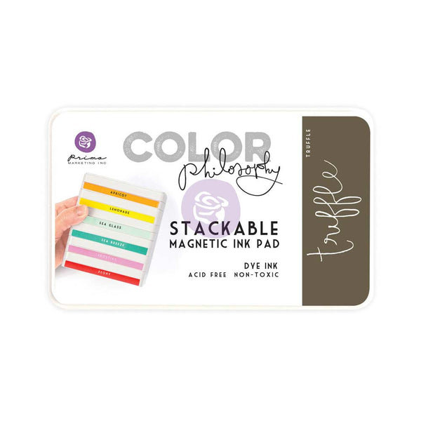 Prima, Magnetic and Stackable Ink Pad, Truffle