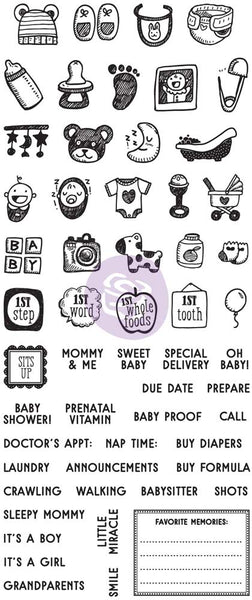 My Prima Planner Clear Stamps, Baby - Scrapbooking Fairies