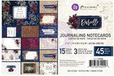 "Prima, Darcelle Journaling Cards 4""X6"" 45/Pkg, 15 Designs/3 Each"
