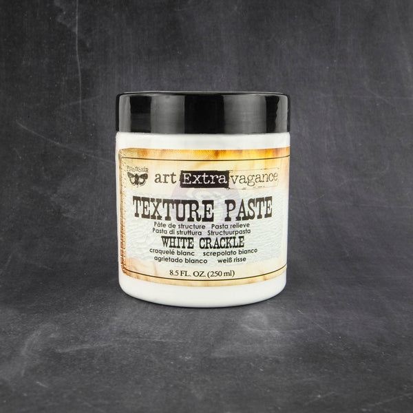 Finnabair Art Extravagance Texture Paste 8.5oz, White Crackle - Scrapbooking Fairies