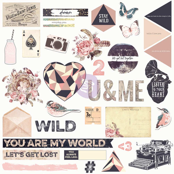 Prima, Chipboard & More, Wild & Free
