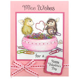 Stampendous, Paper Clip Heart Cling Stamp - Scrapbooking Fairies