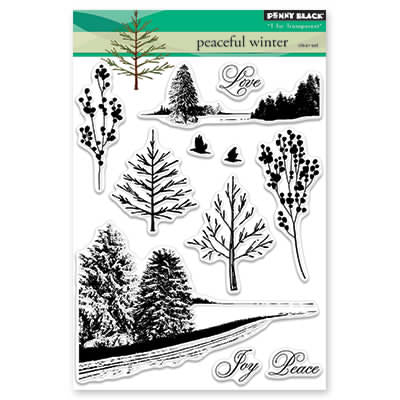 Penny Black, Peaceful Winter, Clear Stamp