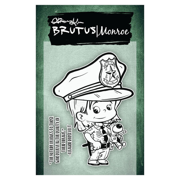 "Brutus Monroe, Clear Stamps 3""X4"", When I Grow Up - Police Officer"