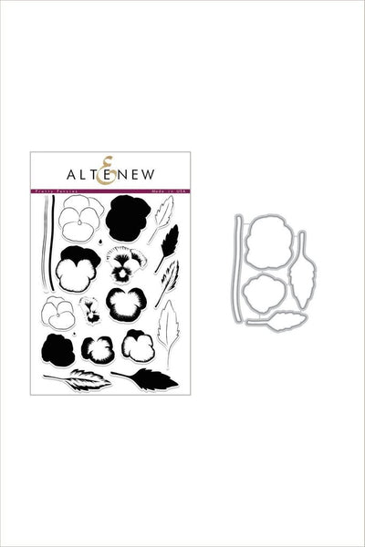 Altenew, Pretty Pansies Stamps  & Dies Bundle - Scrapbooking Fairies