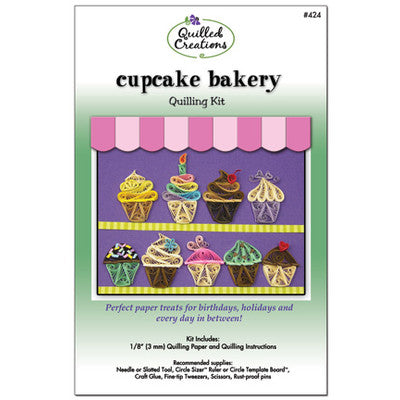 Quilled Creations Quilling Kit, Cupcake Bakery