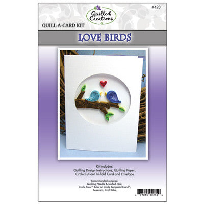 Quilled Creations Quilling Kit, Love Birds