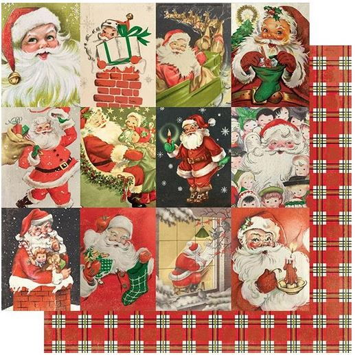 "Authentique Rejoice Double-Sided Cardstock 12""X12"", #23  Classic Christmas Cut-Aparts"
