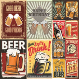 "Happy Hour Double-Sided Cardstock 12""X12"", More Beer"