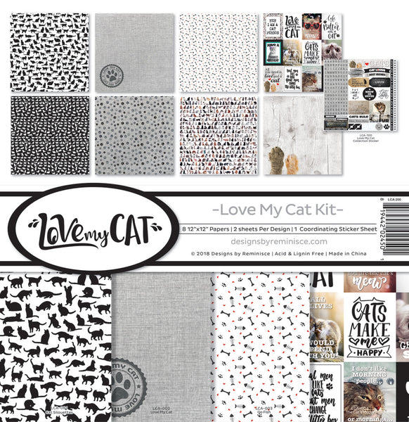 "Reminisce Collection Kit 12""X12"", Love My Cat"